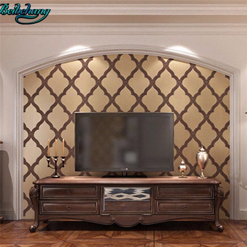 beibehang Modern minimalist deer skin wallpaper 3D stereoscopic European style rhombic non - woven wallpaper