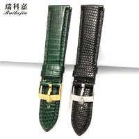 に適用 Rx 腕時計男性の革ストラップトカゲの皮黒緑 19 20 ミリメートル 21 ミリメートル潜水 116610 黒緑水ゴースト