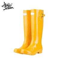 Hellozebra Women Rain Boots England Light Knee High Rain Boots Women Candy Color Water Shoes Fall