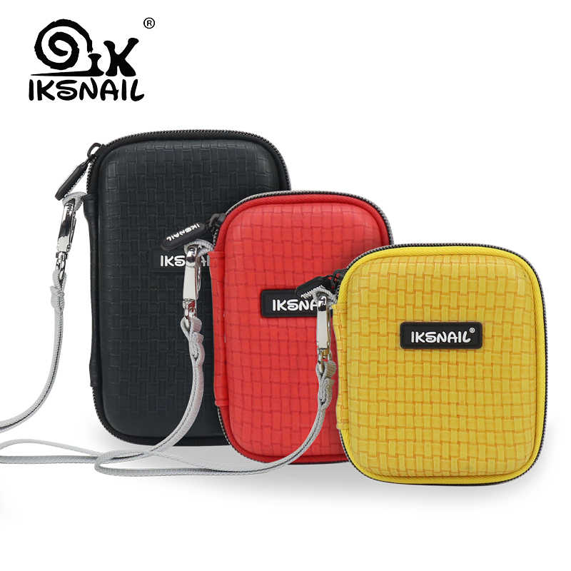 IKSNAIL Shockproof Hard Drive Carrying Earphone Case Pouch Bags For 3 Size Portable External HDD Power Bank Cable Accessories