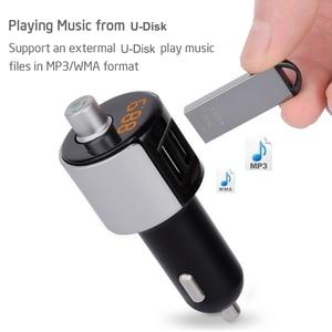 Image 3 - 2 puertos USB cargador de coche Bluetooth JL 2,1 reproductor USB Auto FM sistema estéreo pantalla LED vehículo transmisor FM micrófono incorporado