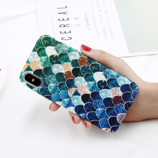 USLION Camellia Flower Leaf Marble Phone Case For iPhone X Cherry Rose Floral Case For iPhone 7 8 6 6S Plus Hard PC Cover Coque 3