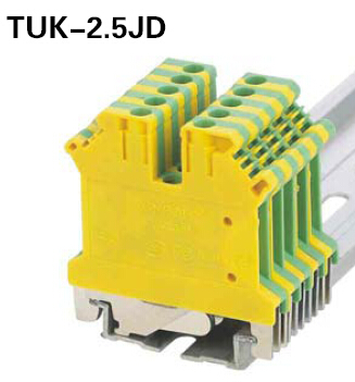 Elewind Industrial ground terminal blocks (TUK 2.5JD,for Under 4.0 ...
