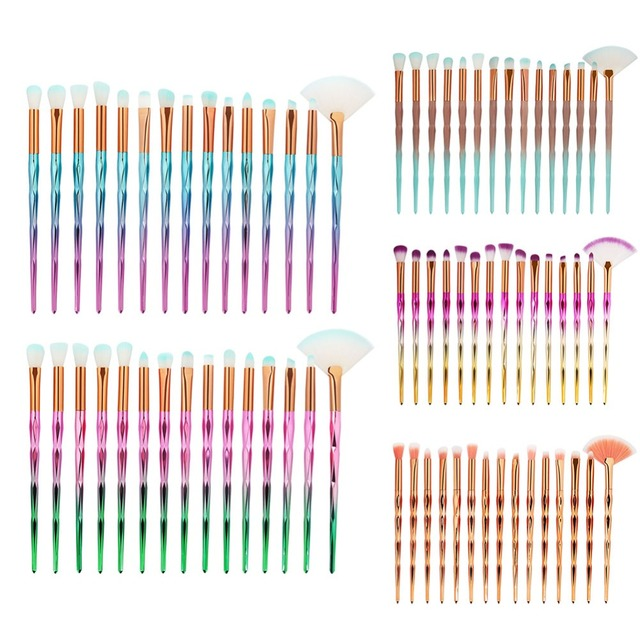 7/10/15pcs/kits Professional Nylon Makeup Brushes Set Cosmetics Foundation Brush Tools For Face Powder Eye Shadow Eyeliner Lip
