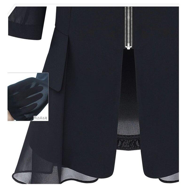 Cardigans Women Office Black Blazers Ruffled Female Casual Chiffon Size Slim Plus Summer Blazer Wear Jacket Suit Mujer 4SBwxnzpPq