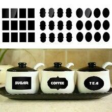 Adesivos para casa cozinha quadro-negro 36 pçs/lote, frascos de vidro com múltiplos tamanhos