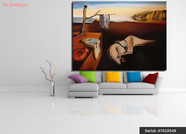 Us 8 66 46 Off Salvador Dali Still Life Abstract Oil Painting Drawing Art Spray Unframed Canvas Airbrush Wall Wine Figure Realistic47019549 In