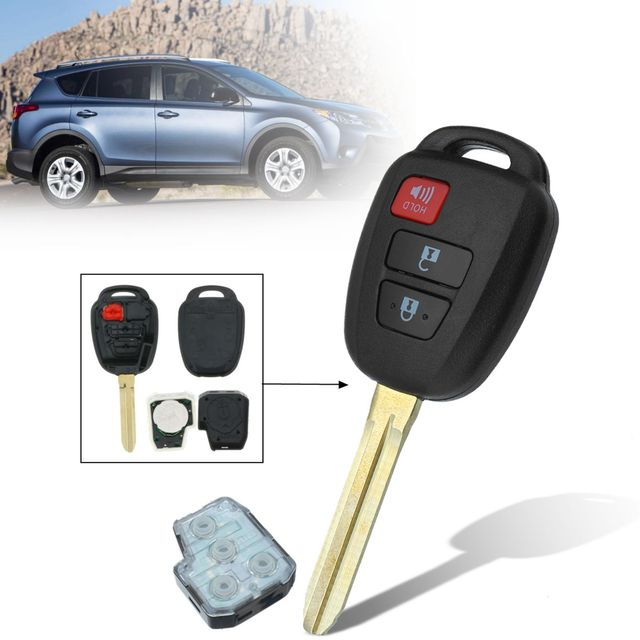 3 Buttons With Chip And Battery 314mhz Car Remote Key Fob Case Shell