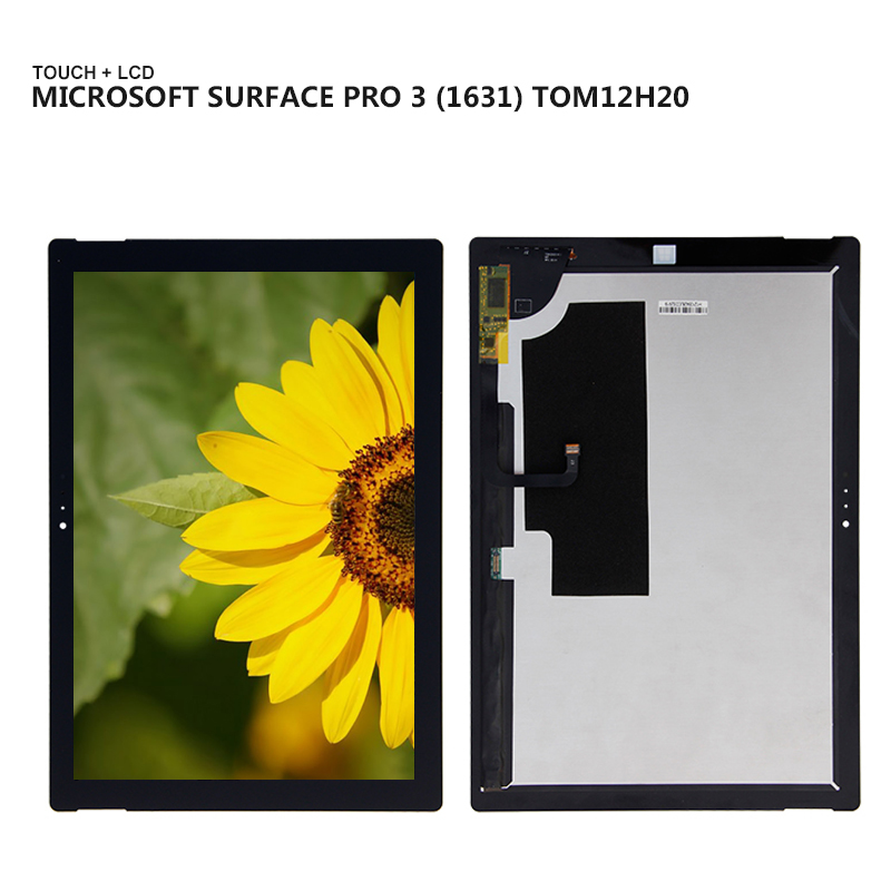 For Microsoft Surface Pro3  Surface Pro 3 1631 TOM12H20 V1.1 Display Panel LCD Combo Touch Screen Glass Sensor Replacement Parts