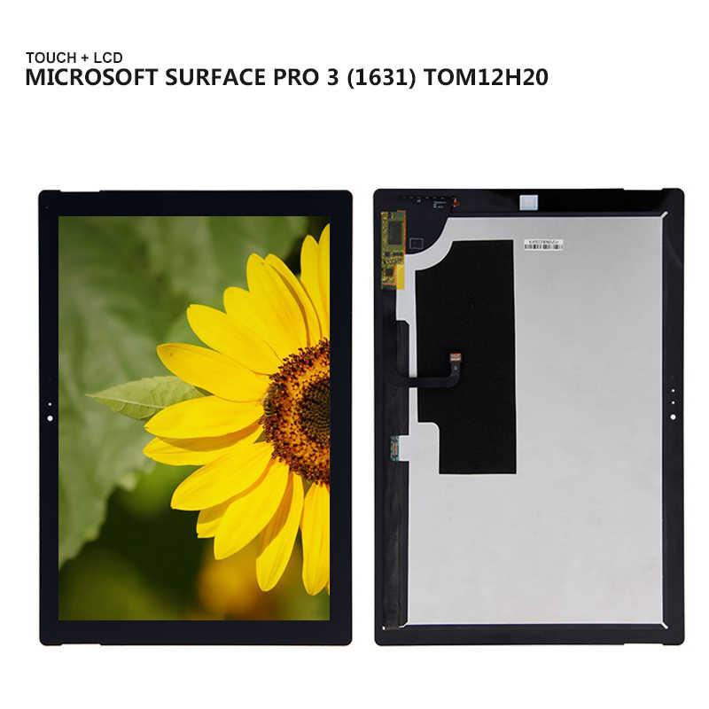 لمايكروسوفت السطح Pro3 سطح برو 3 1631 TOM12H20 V1.1 شاشة عرض LCD كومبو شاشة تعمل باللمس زجاج قطعة بديلة لمستشعر أجزاء