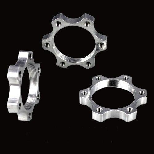 44//48mm Aluminium Alloy MTB Bike Threaded Hubs Disc Brake Rotor Adapter Base
