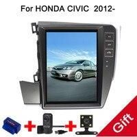 10,4 Тесла Android 7,1/6,0 Fit HONDA CIVIC левой вождения 2012 2013 2014 2015 DVD плеер автомобиля навигация GPS радио
