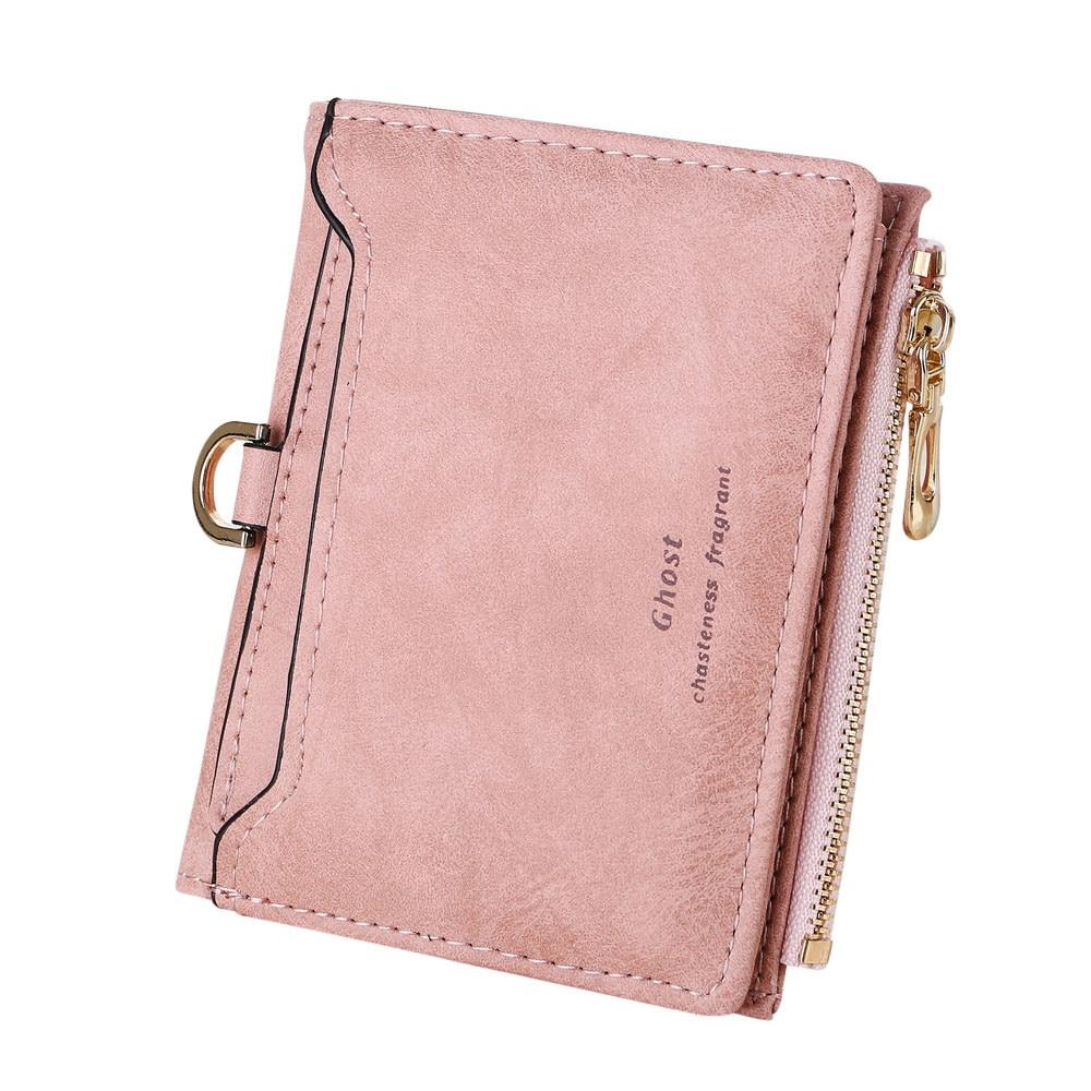 women simple retro letters short wallet coin purse card