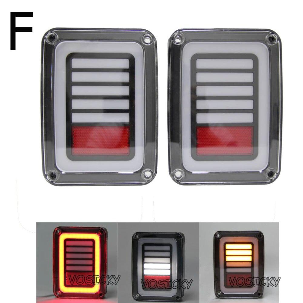 Светодиодные задние фонари тормоз задний противотуманный фонарь задний Резервное копирование указателя поворота для джип Вранглер 2007-2015(2 шт)