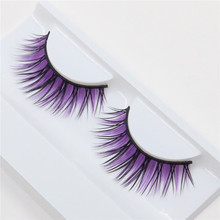1 pairs natural fiber natural nude makeup holiday fashion eyelashes false eyelashes