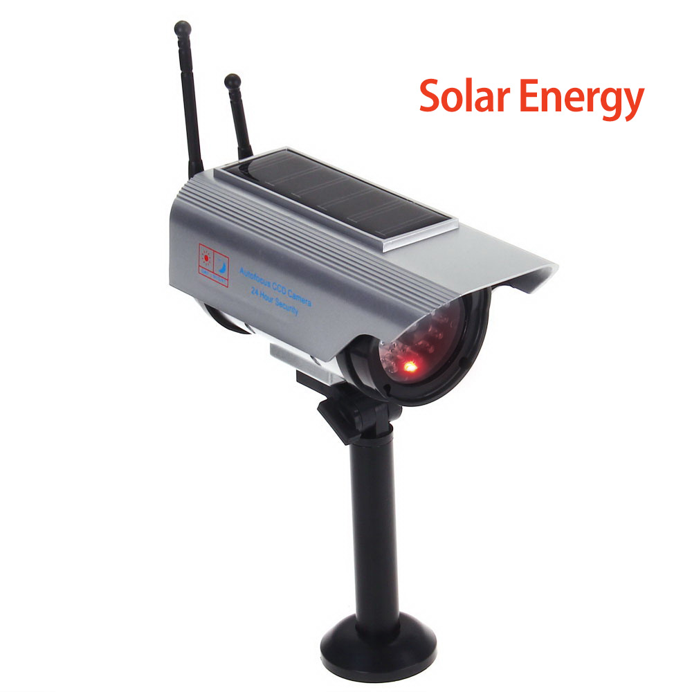 Indoor Outdoor Solar Powered Fake Camera Dummy Bullet Cctv