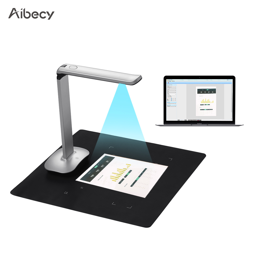 Aibecy F50 Foldable HD High Speed USB Book Image Document Camera Scanner 15 Mega-Pixels A3 & A4 Scanning Size