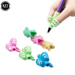 6Pcs/lot Pencil Handle Rod Grips pen Holder Grip for Kids Cute Hand writing Aid Trainer Posture Correction Pen Finger Holder