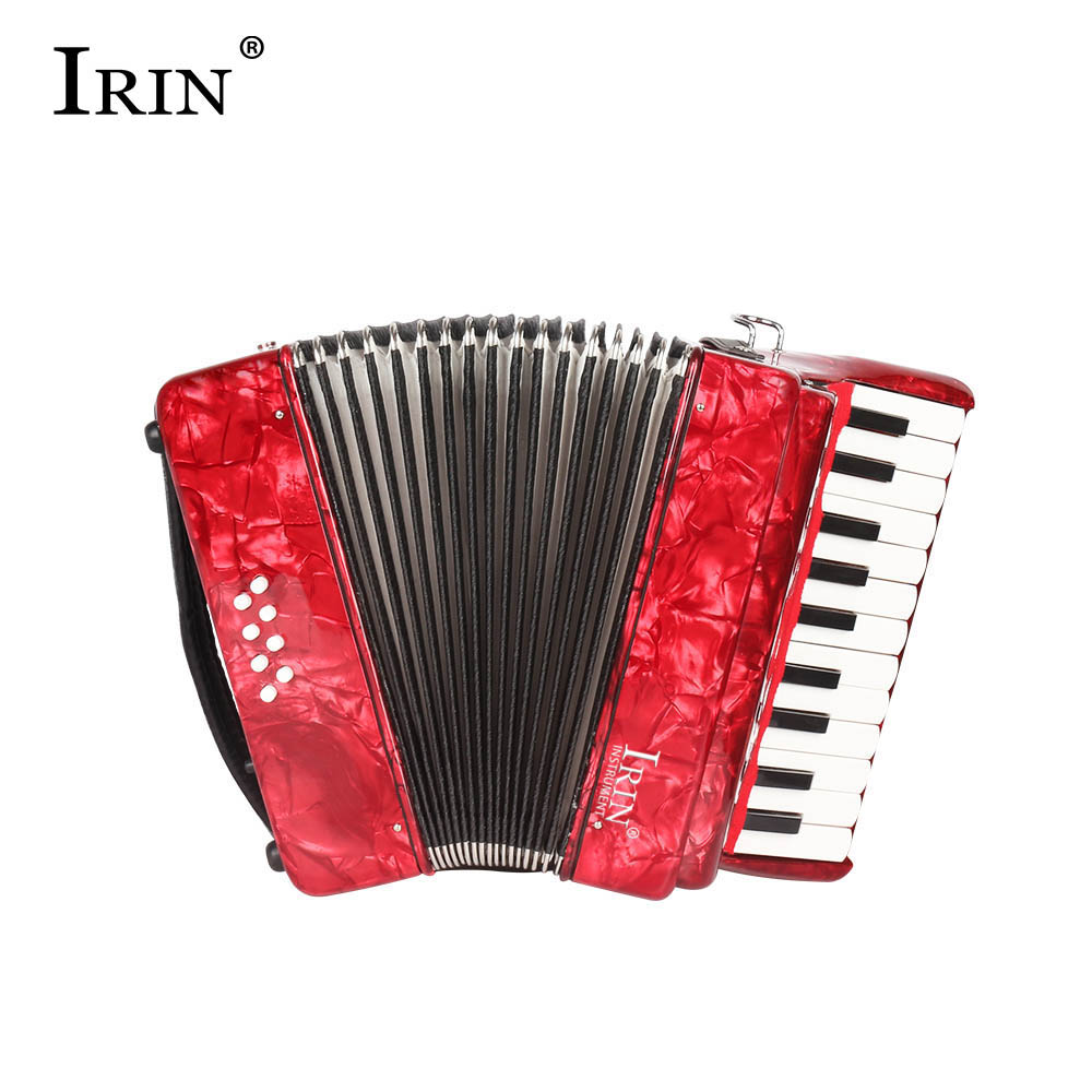 HOT-IRIN 22 Keys 8 Bass accordion 22K8B kids' accordion 22 Keys 8 Bass accordion for Children(red) women human hair wig short black blend white layered oblique fringe heat ok heat resistant female hair natural straight