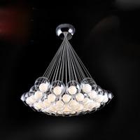 Glass ball lamps Modern 19 heads Led Bulb Glass Ball Pendant Lights Glass Blub Sago Lighting 110V 240V pendant lamps FG173