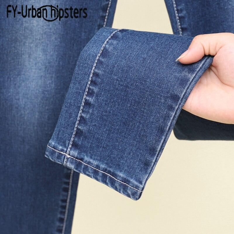 female   jeans   trouser high waist Elastic   jeans   woman stretch denim pencil   jeans   boyfriend women plus size slim denim pants skinny