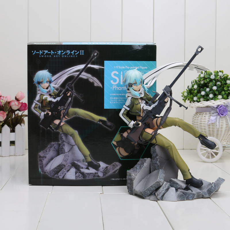 Sword Art Online 2 Asada Shino Figma 23CM Kotobukiya Asada Shino Phantom Bullet 1/8 Scale Pvc Action Figure Toys Kids Hot Gifts nendoroid anime sword art online ii sao asada shino q version pvc action figure collection model toy christmas gifts 10cm
