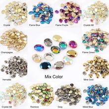 Горячая Распродажа волшебное зеркало 6X8 мм/8x10 мм ногтей Стразы 13 видов цветов Необычные хрустальные камни 30/100 шт для 3D нейл-арта украшения