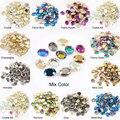 Горячая Распродажа, волшебное зеркало 6X 8 мм/8x10 мм, стразы для дизайна ногтей, 13 цветов, модные хрустальные камни, 30/100 шт., для украшения 3D ногт...