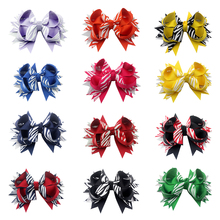 Adogirl 12pcs 4.5 inch Colorful hairpin Boutique for girls hair clips Ribbon bow Handmade Grosgrain Hairbow gift
