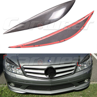 2007 2010 Carbon Fiber Front Headlight Cover Eyelid Eyebrow for Mercedes benz C class C180 C200 C260 C300 W204 C63
