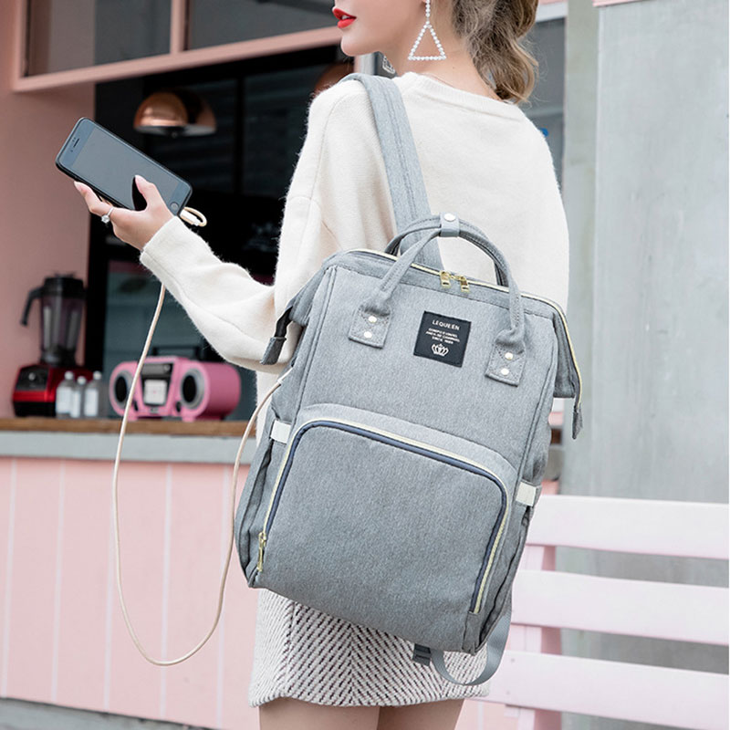 Drop Shipping Diaper Bags Women Backpacks With Hooks USB Backpacks Female Multifunctional Nappy Bags Baby Care Travel BackpacksDrop Shipping Diaper Bags Women Backpacks With Hooks USB Backpacks Female Multifunctional Nappy Bags Baby Care Travel Backpacks