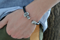 1pc Personalized Norse Viking Runes Beads Multiple Beads Bracelets Bangles Adjustable Suitable For Unisex