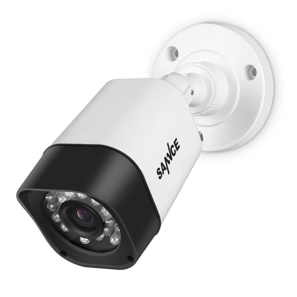 SANNCE TVI 720P 4PCS 1200TVL Bullet CCTV Camera Suite 1.0MP Waterproof IR-Cut Night Vision Camera For Surveillance System Kit BW