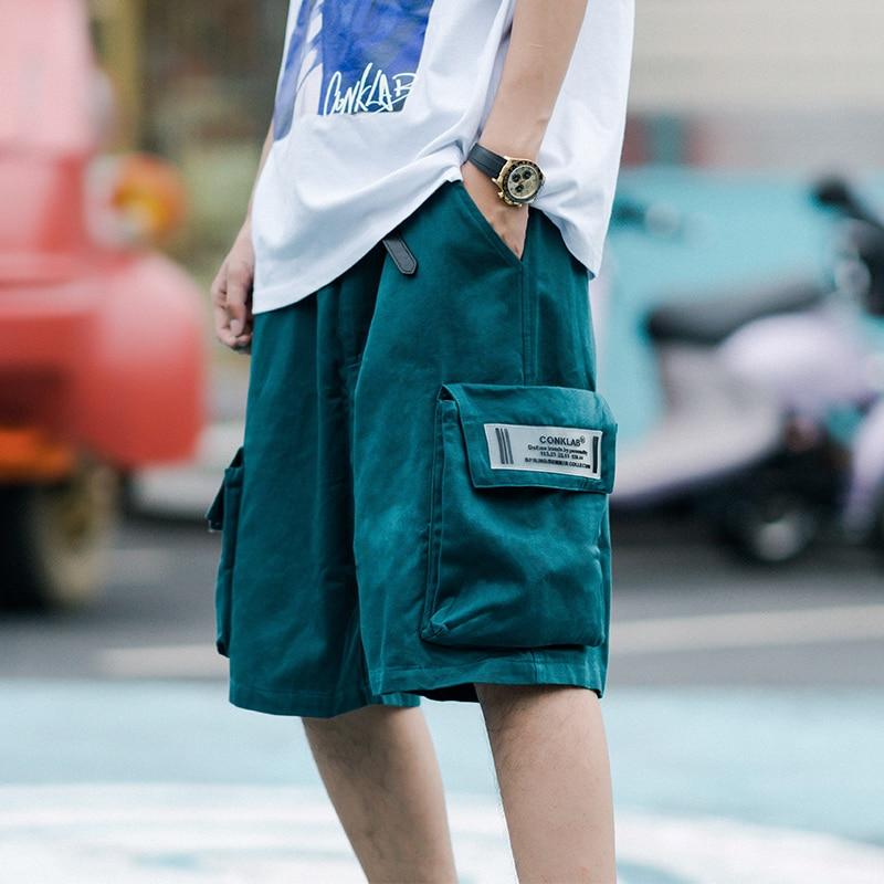 Summer Tide Brand Couple Knee Length Pants Men's Multi-pocket Cargo Shorts Sports Loose Casual Short Pants
