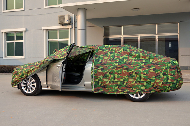 High Quality Tearproof Oxford Cloth Camouflage Car Cover For Outdoor UV Waterproof Rain Dust Snow Breathable Full Protection oxford cloth dust cover green washable large size