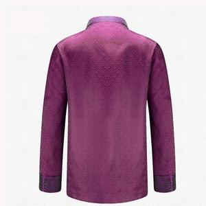 Image 2 - APEC Tang Suit Brand New Purple Chinese Traditional Mens Mandarin Collar Leader Costume Jackets Coats M L XL XXL XXXL YZT1209