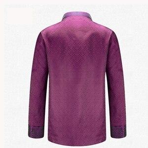 Image 2 - APEC Tang Takım Elbise Marka Yeni Mor Çin Geleneksel erkek Mandarin Yaka Lideri Kostüm Ceketler Coats M L XL XXL XXXL YZT1209