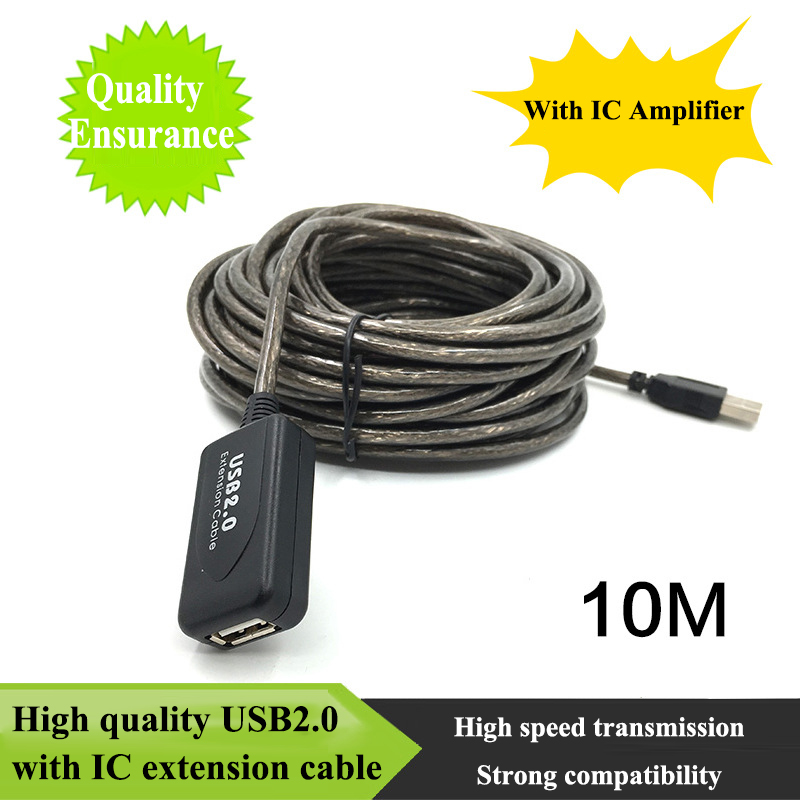 5m/10m USB2.0 Signal Amplification Extension Line USB Active Repeater Male to Female Extension Cable Adapter for Win98/2000/XP 5m 10m 15m 20m usb 2 0 cable usb extension cable male to female extension line cable high speed wire data adapter connector