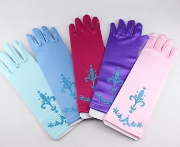 Princess Cosplay gloves children girl cartoon print gloves Festive Party performance costume Cos props long gloves party gift