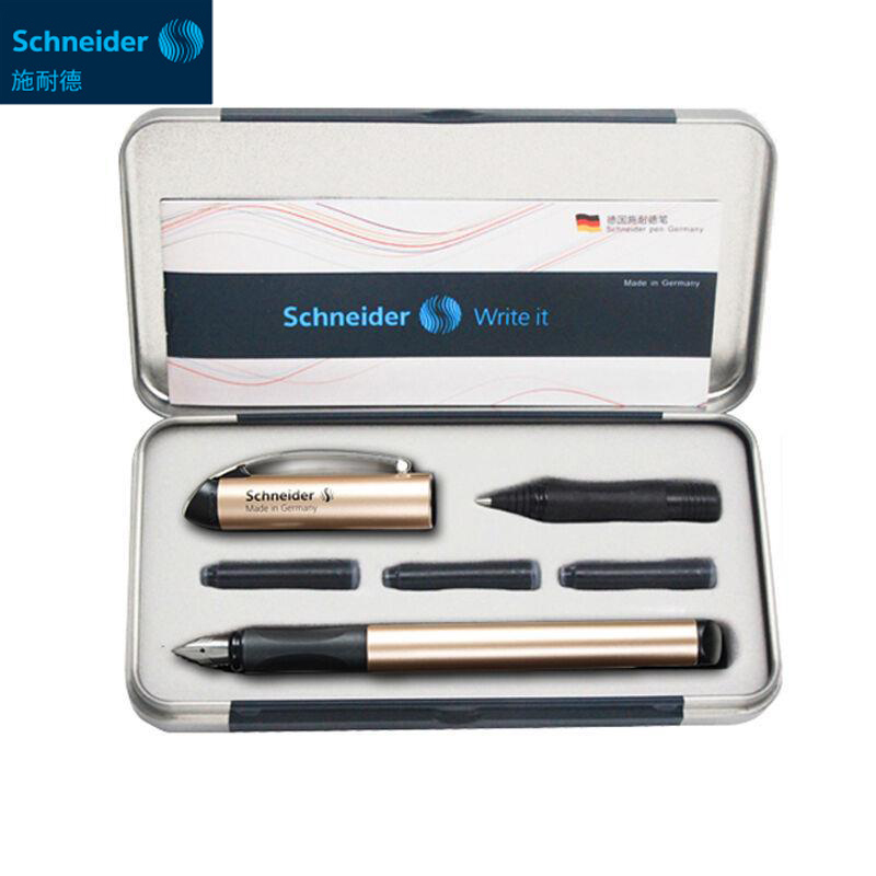 Germany Schneider Fountain Pen 0.5mm Two-way Signing Pen Gel Pen Students Office Ink Pen BK600 Gift Box 3 Colors Optional parker 88 maroon lacquer gt fine point fountain pen
