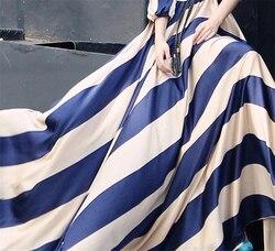 """Kobiety w paski sukienka w dużym rozmiarze elegancka długa plaża sukienka w dużym rozmiarze pół rękaw sukienka z dekoltem w kształcie litery """"o"""" tunika czeski sukienka Slim powołanie sukienki 4"""