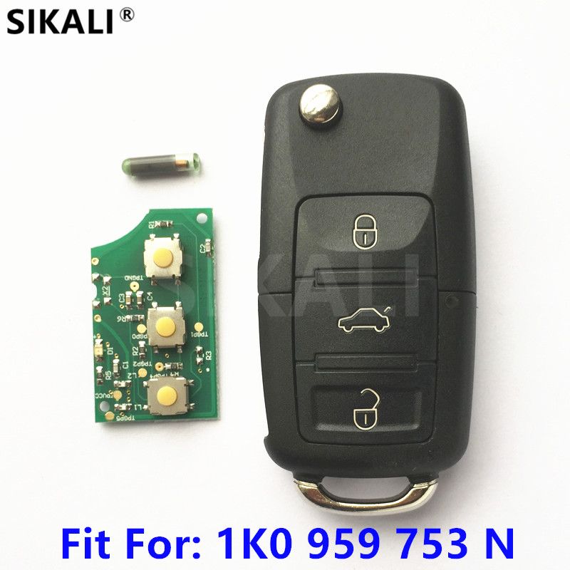 цена Car Remote Key for 1K0959753N 5FA009263-11 for EOS/GOLF/JETTA/POLO/SIROCCO/TIGUAN/TOURAN 2006 2007 2008 2009 2010 2011 2012 2013
