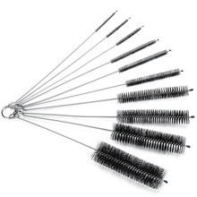 Bottle Brush,Bottle Cleaning Brushes, Brush, Cleaner for Narrow Neck Bottles Cups with Hook, Set of 10 pcs