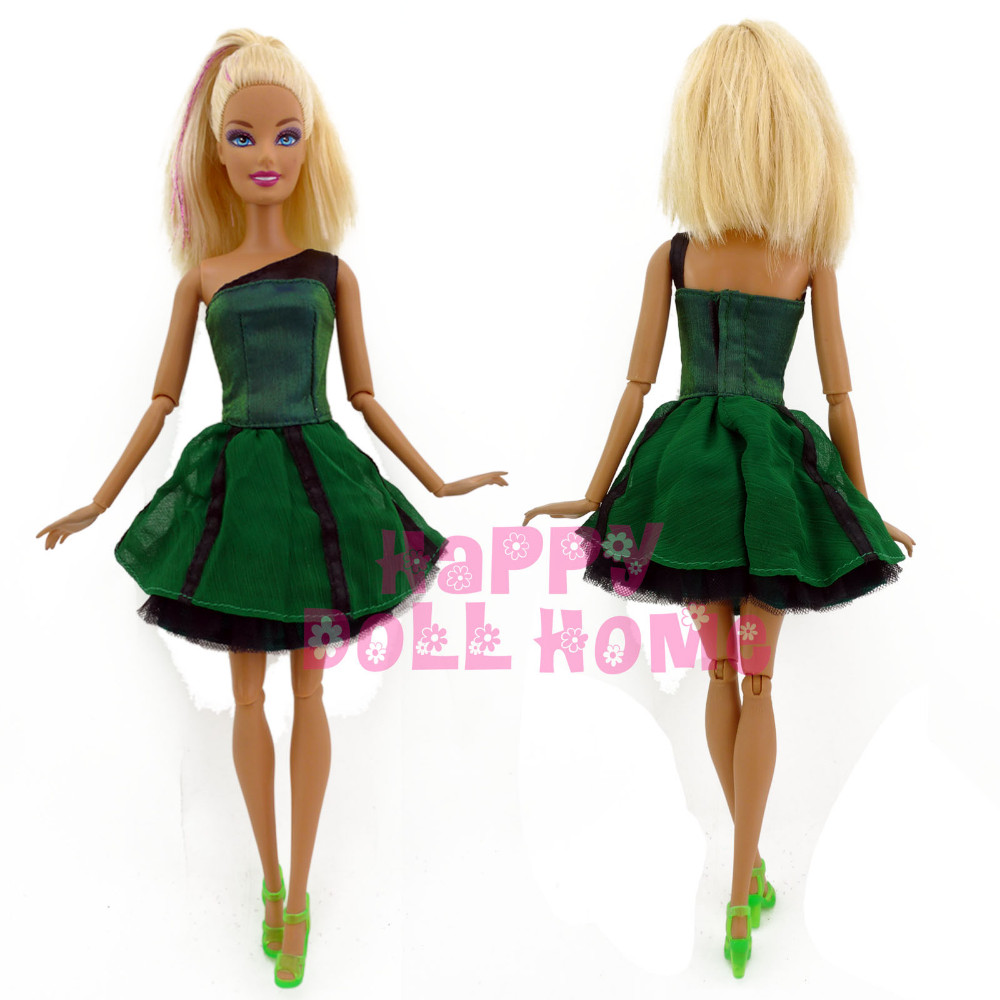 Christmas dress casual -  Free Shipping One Pcs Doll S Dress Princess Gown Casual Handmade Skirt For Barbie Doll Christmas Gift