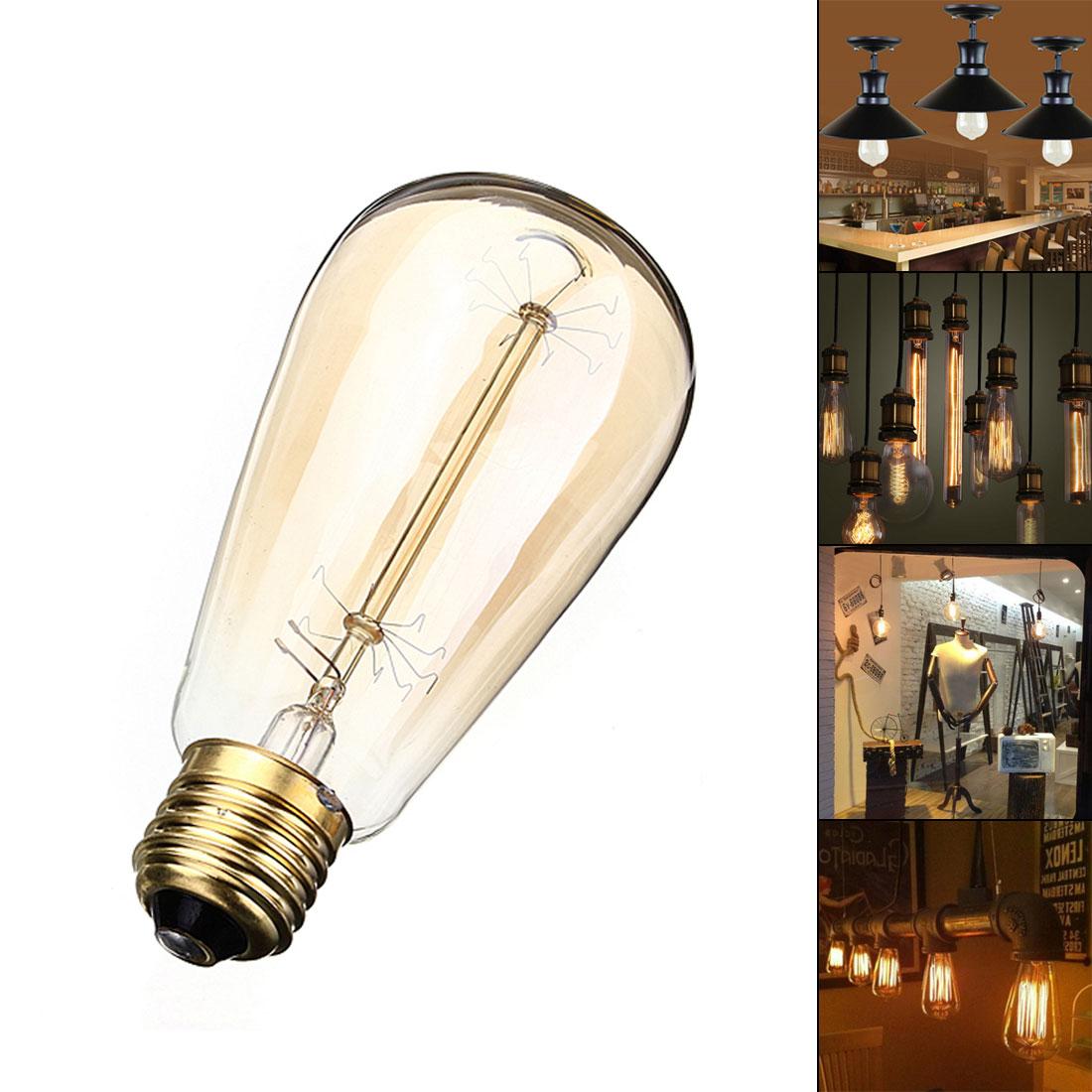 LED Light Bulb Vintage Edison E27 60w Incandescent Bulb 110v 220v Holiday Lamp Pyrotechnics Bulb Christmas Decoration for Home