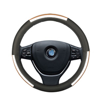Car steering wheel cover leather for ford capri C MAX cmax ECOSPORT EDGE endeavour escape escort mk1 mk4 mk6 everest explorer