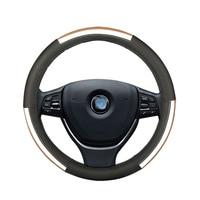 Car steering wheel cover leather for subaru forester impreza legacy outback tribeca xv skoda superb 1 2 3 OCTAVIA 1 2 3 a5 a7