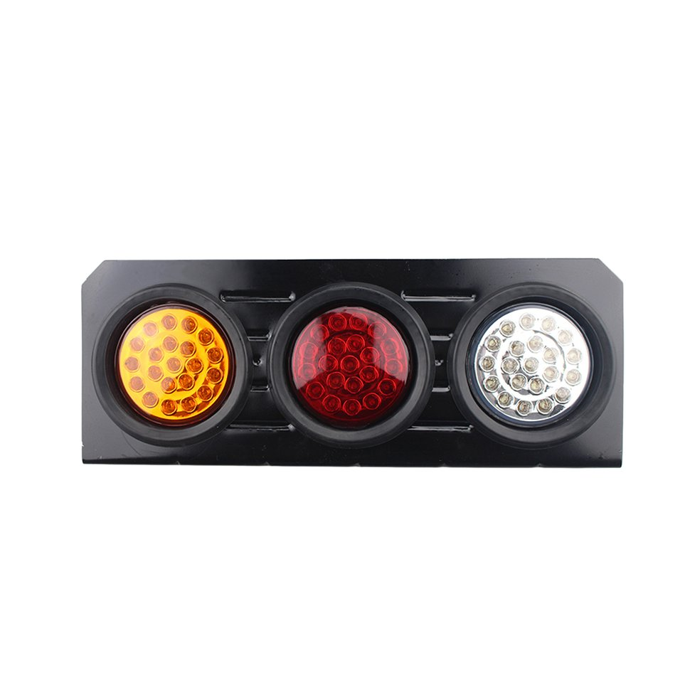 1 Pair 63 LED Car Rear Tail Lights Turn Signal Lamp Reverse Lamp for 12V 24V Truck Trailer Lorry in Car Light Assembly from Automobiles Motorcycles