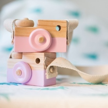 Wooden Decorative Camera Nordic Style Kids Decoration Home Decor Baby Children Room Wood Crafts