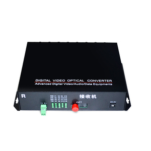 Image 5 - 1 Pair 2 Pieces/lot 16 Channel Video Optical Converter 16V1D Fiber Optic Video Optical Transmitter & Receiver 16CH +RS485 Data